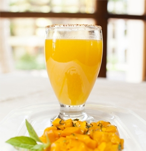 Photography recipe Mango water