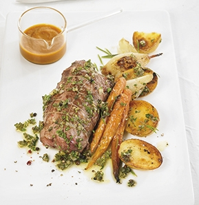 Photography recipe Roast rolled veal